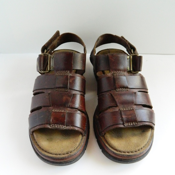 Timberland Brown Leather Sandals Mens
